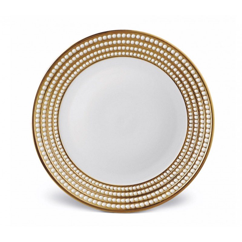 Perlée Gold Charger Plate