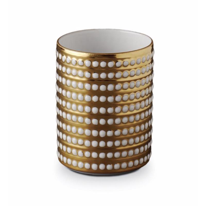 Perlée Gold Vase Small