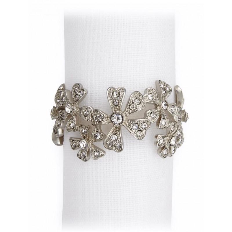 Garland Napkin Jewels Platinum - Set of 4