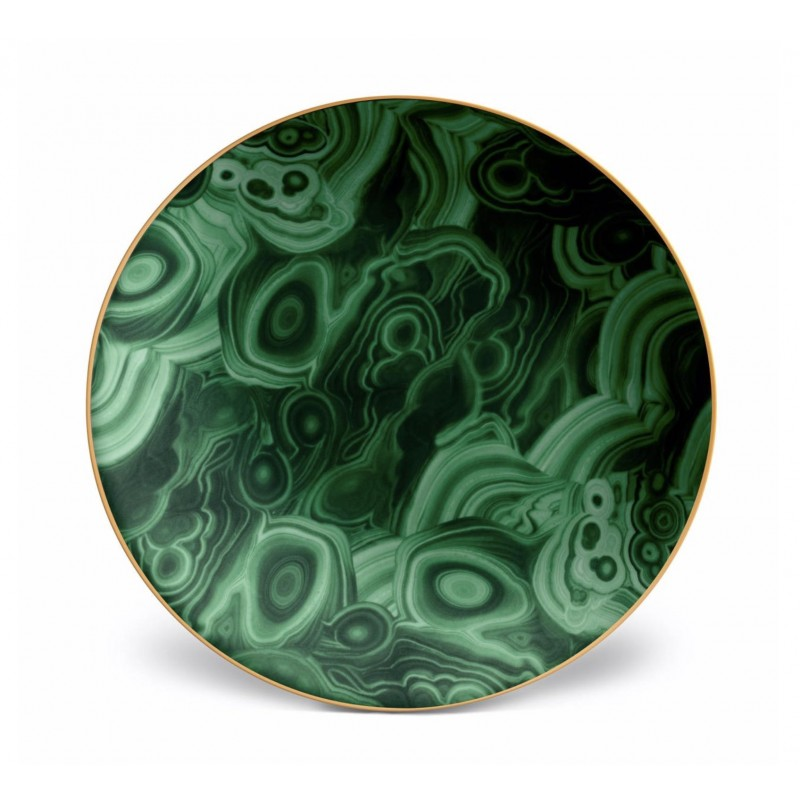 Malachite Charger Plate / Cake Plate