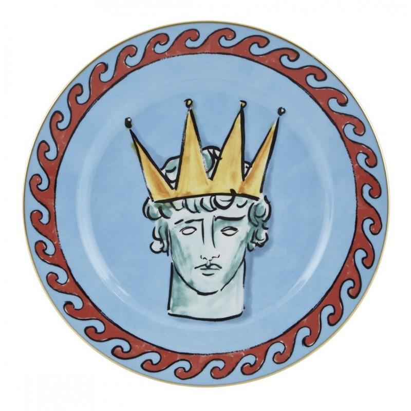 Il Viaggio di Nettuno Dinner Plate Sea Blue - Set of 2