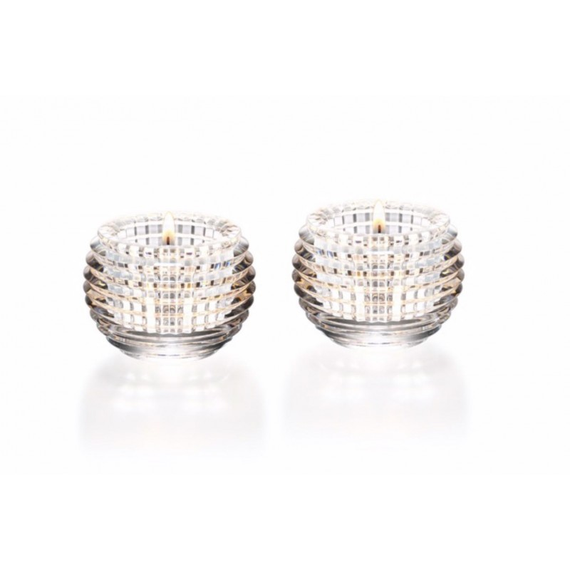 Set of 2 Eye Votives Clear