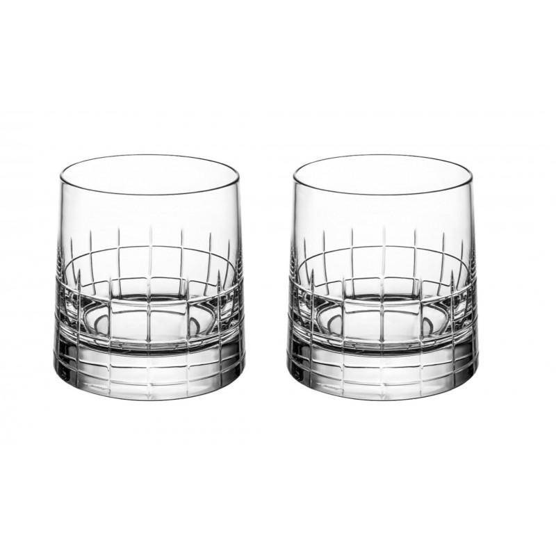 Graphik Verre à Whisky en Cristal Clair - Coffret x2