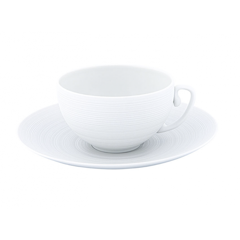 Hémisphère White Satiné  - Tea Cup with Saucer