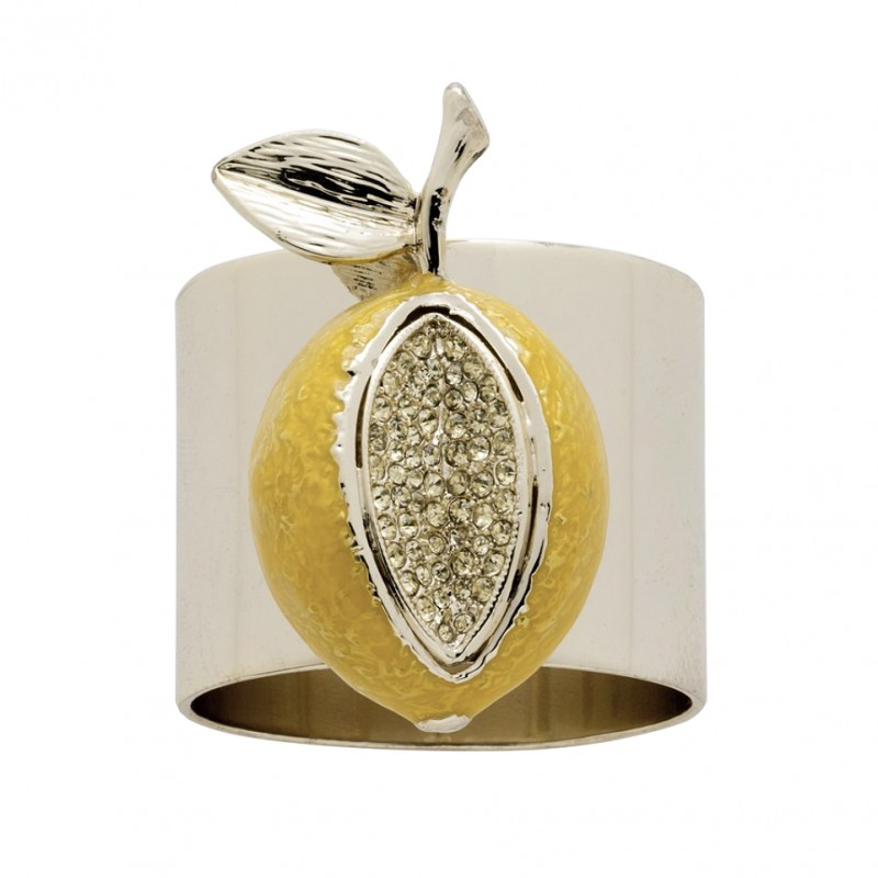 Lemon Napkin Ring Yellow - Set of 2