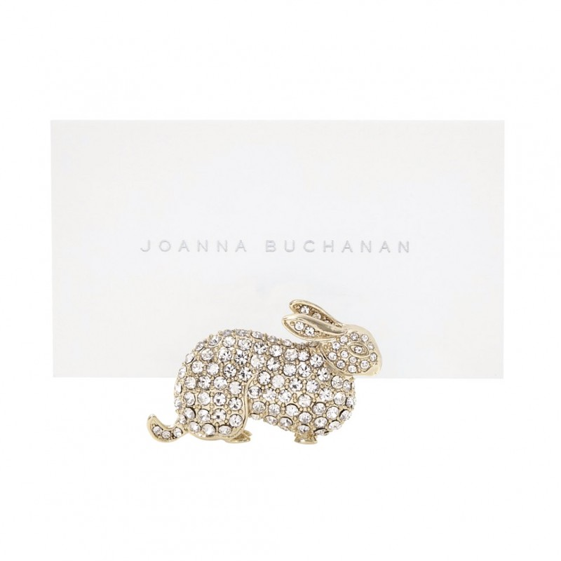 Bunny Place Card Holder Gold - Set of 2