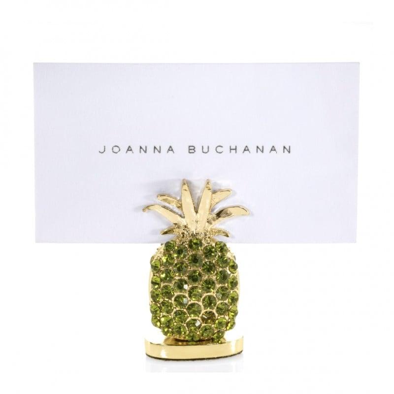 Pineapple Place Card Holder Olive - Set of 2