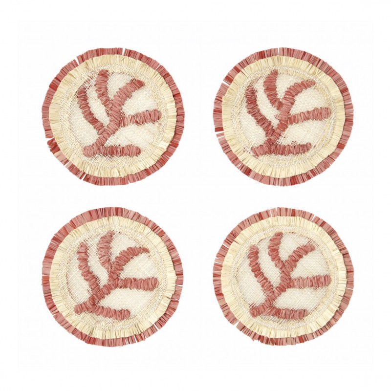 Coral Straw Coaster - Set of 4
