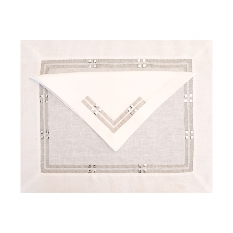 Placemat and Napkin Bristol Argent