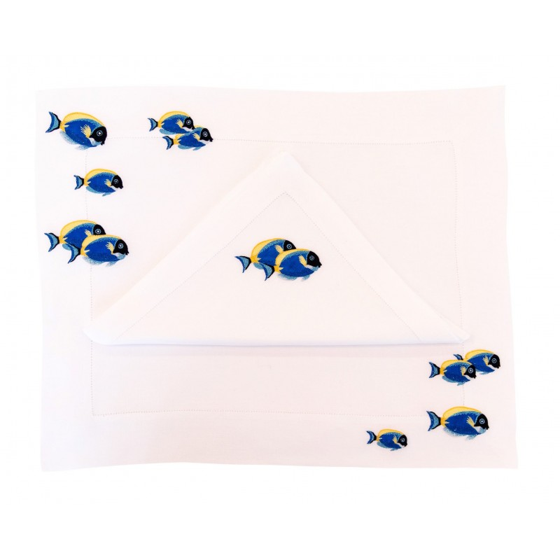 Placemat and Napkin Fish