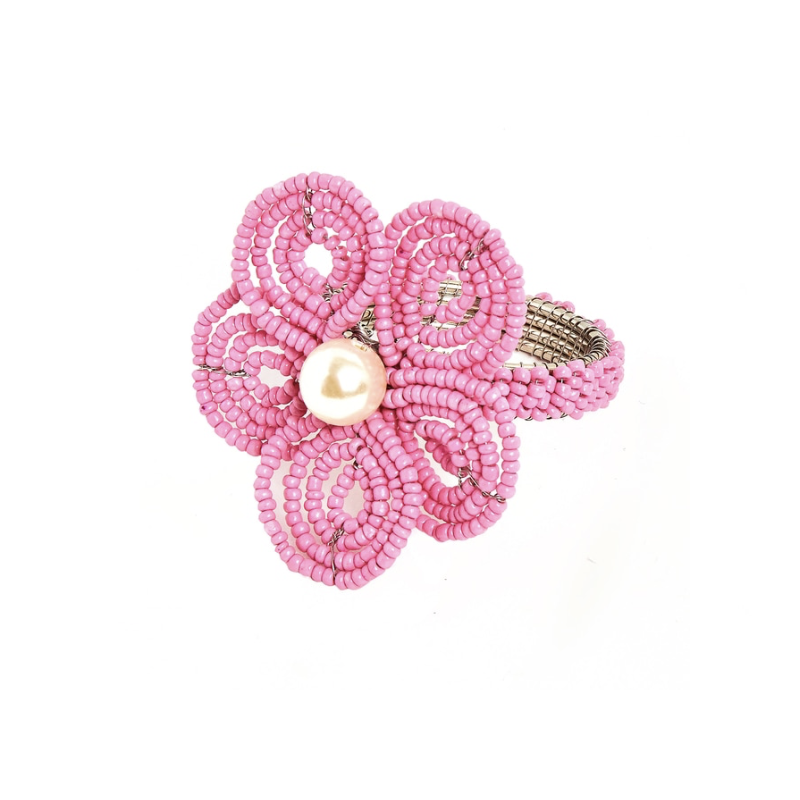Floral Napkin Rings Pink