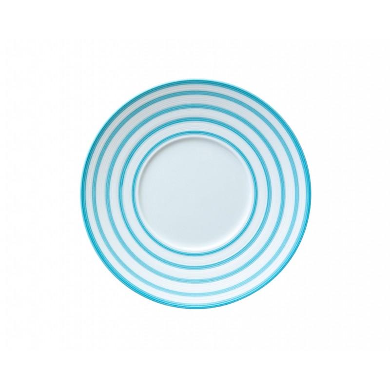 Hémisphère Turquoise Bread Plate Stripes