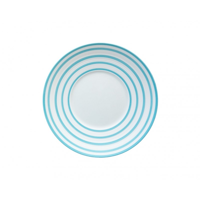 Hémisphère Turquoise Dessert Plate Stripes