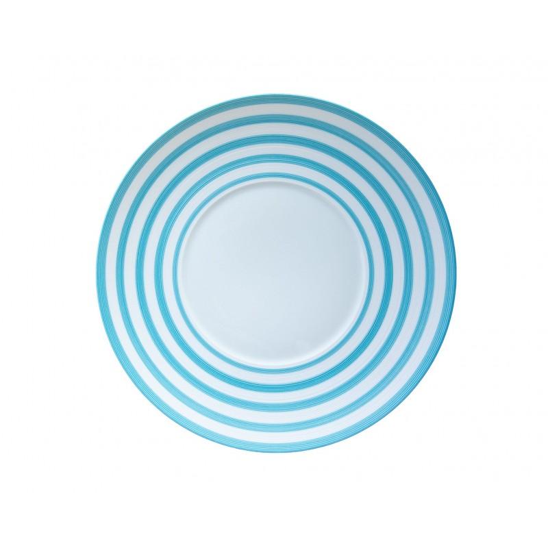 Hémisphère Turquoise Presentation Plate Stripes