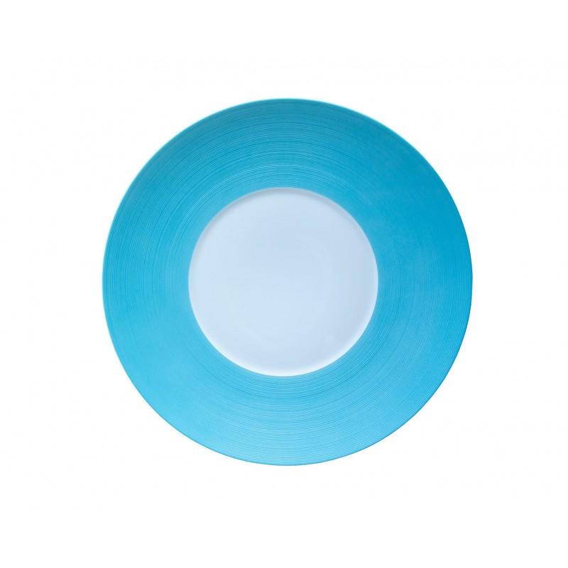 Hémisphère Turquoise Dinner Plate