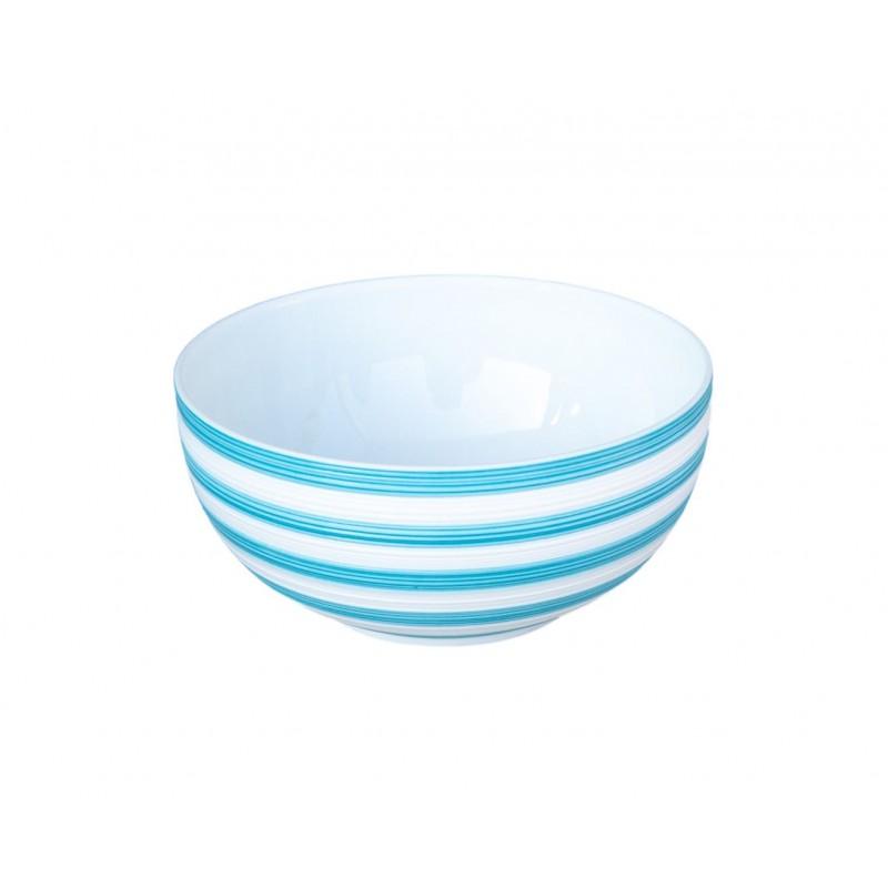 Hémisphère Turquoise Soup/Cereal Bowl Stripes