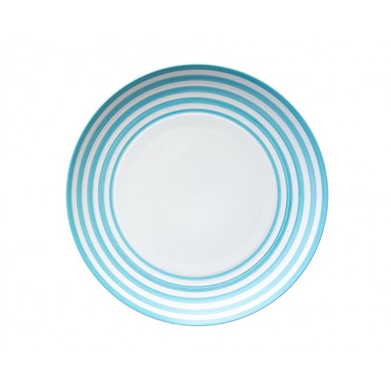 Hémisphère Turquoise Maxi Flat Dish Stripes