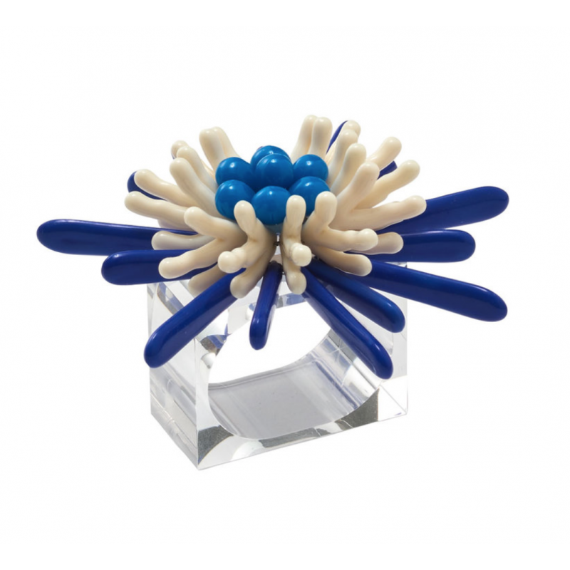 Capri Napkin Ring Navy White