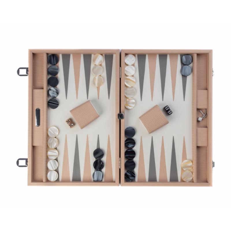 Backgammon Camille Large Size Poudre Color