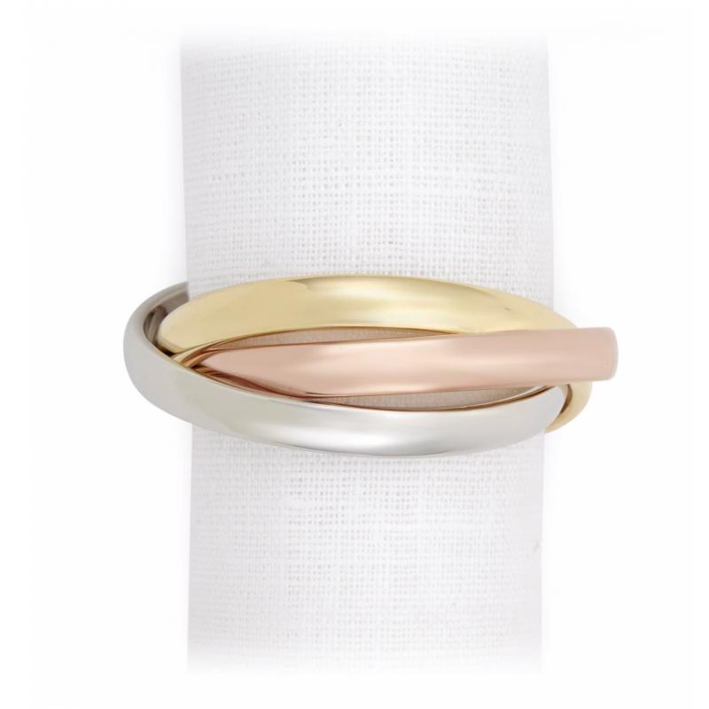Three Rings Tri-color - Set of 4