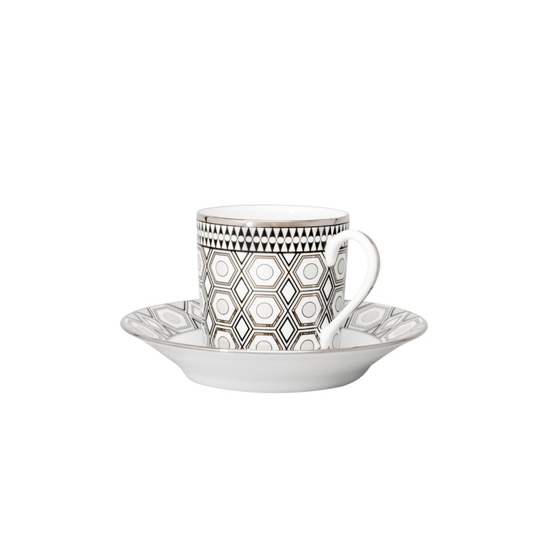 Hollywood Coffee Cup and Saucer Platinum