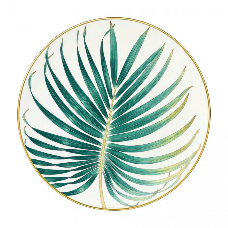 Assiette à Diner Passifolia Motif Palme - Coffret x2
