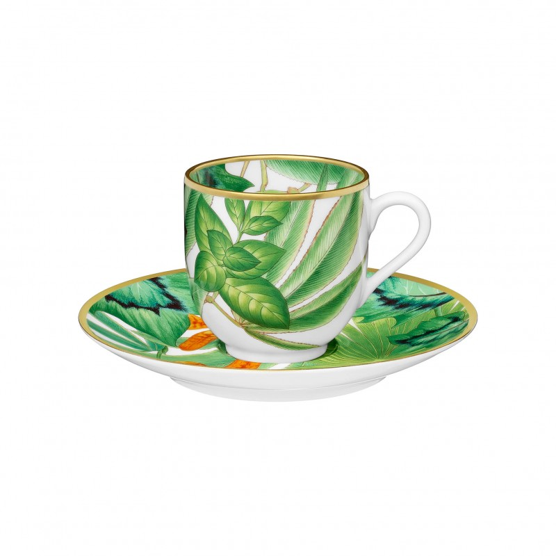 Passifolia Coffee Cup and Saucer - Set of 2
