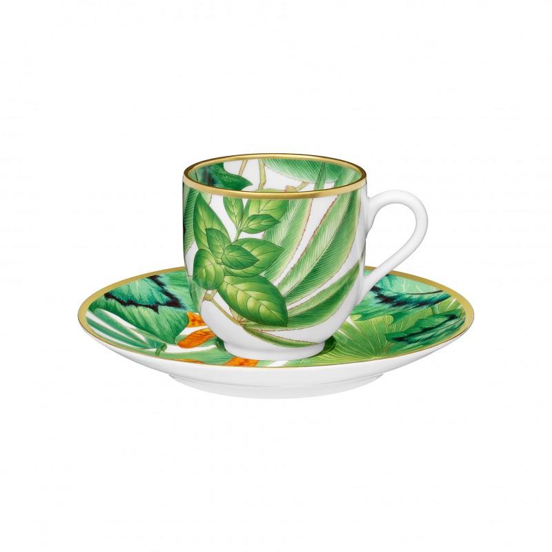 Tasse à Café et Soucoupe Passifolia - Coffret x2
