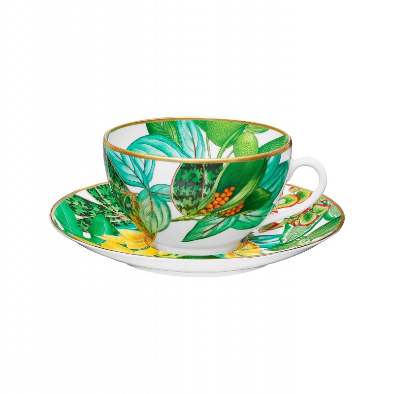 Passifolia Breakfast Cup and Saucer - Set of 2