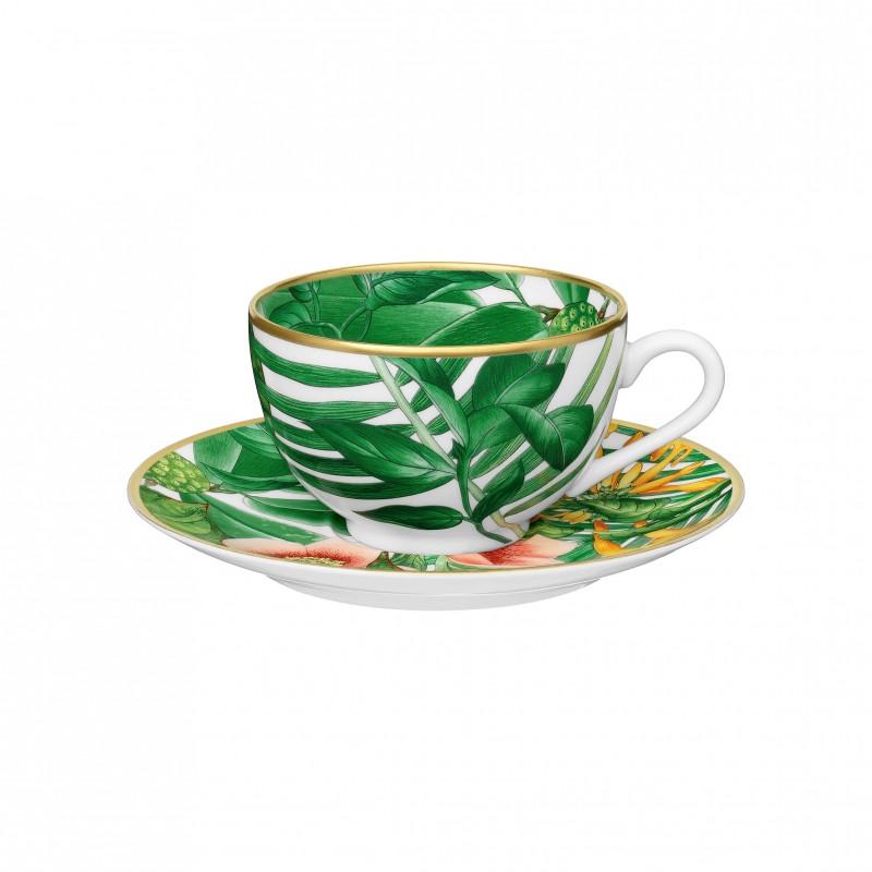 Tasse à Thé et Soucoupe Passifolia - Coffret x2