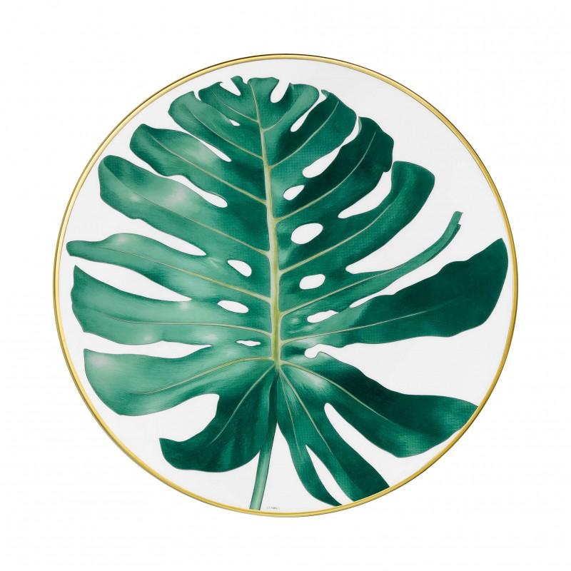 Assiette à Diner Passifolia Motif Philodendron - Coffret x2