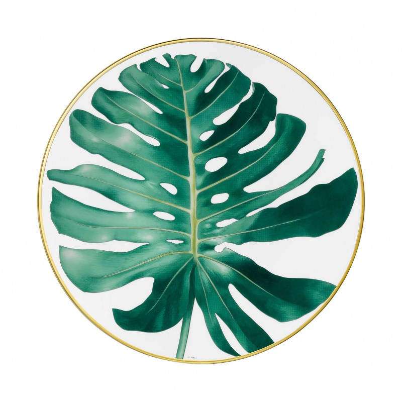"Passifolia Dinner Plate ""Philodendron"" - Set of 2"