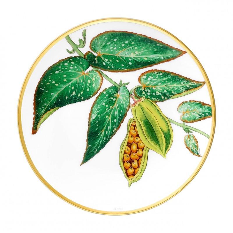"Assiette à Pain Passifolia Motif ""Tamaya"" - Coffret x2"