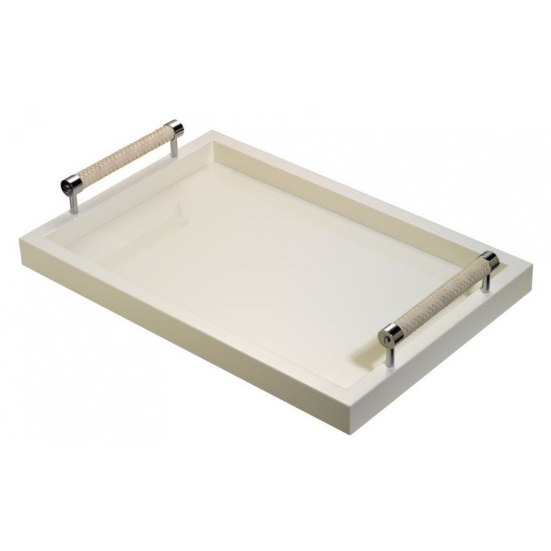 Lacquered Tray Ivory Small 46 x 31
