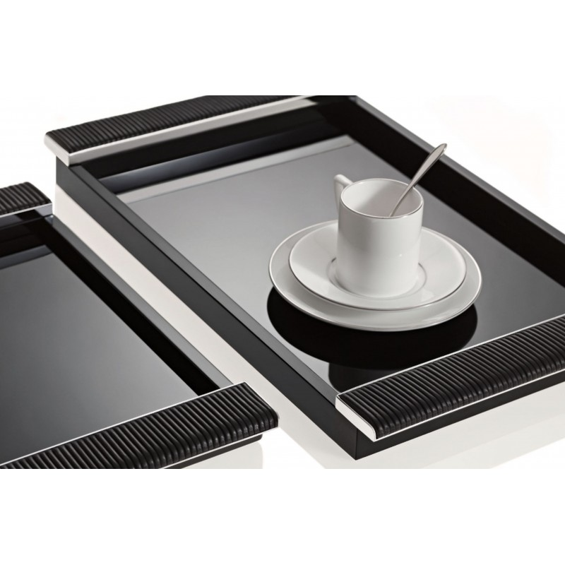 Lacquered Tray Black 26 x39