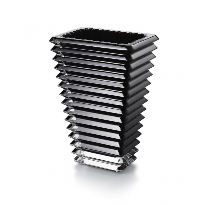 Eye Vase Rectangular Black Small Size