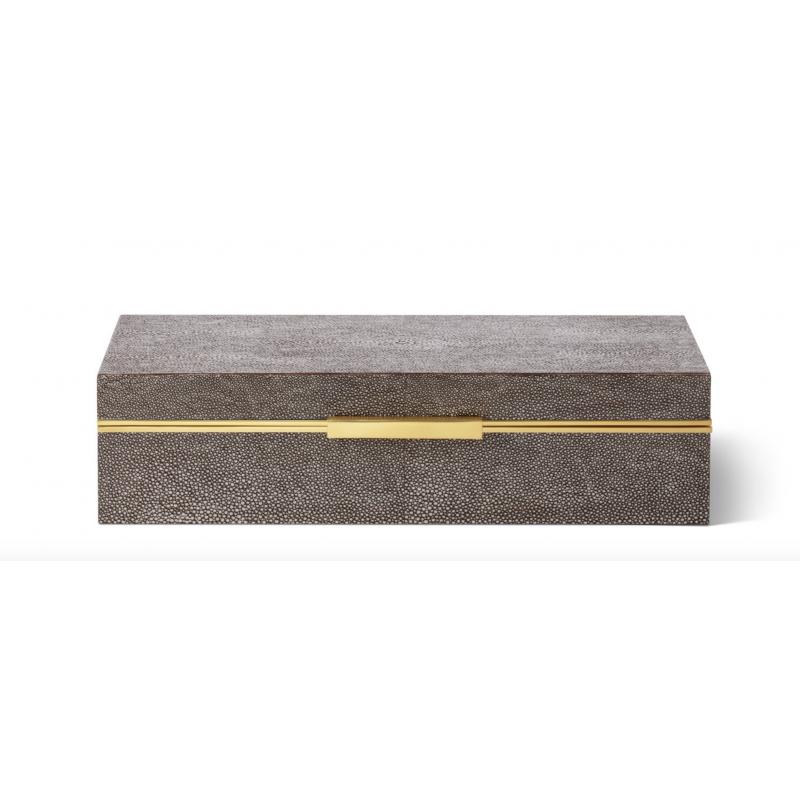 Shagreen Envelope Box Chocolate