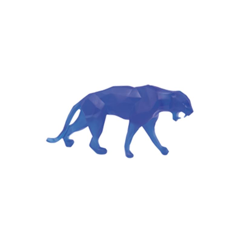 Wild Panther Blue Small Size by Richard Orlinski
