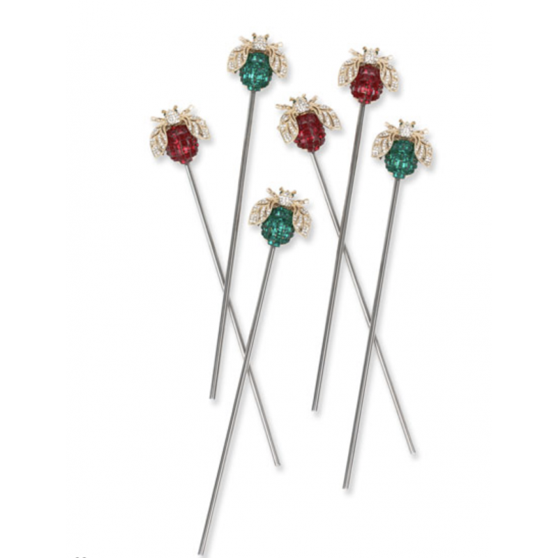 Sparkle Bee Swizzle Sticks - Set of 6