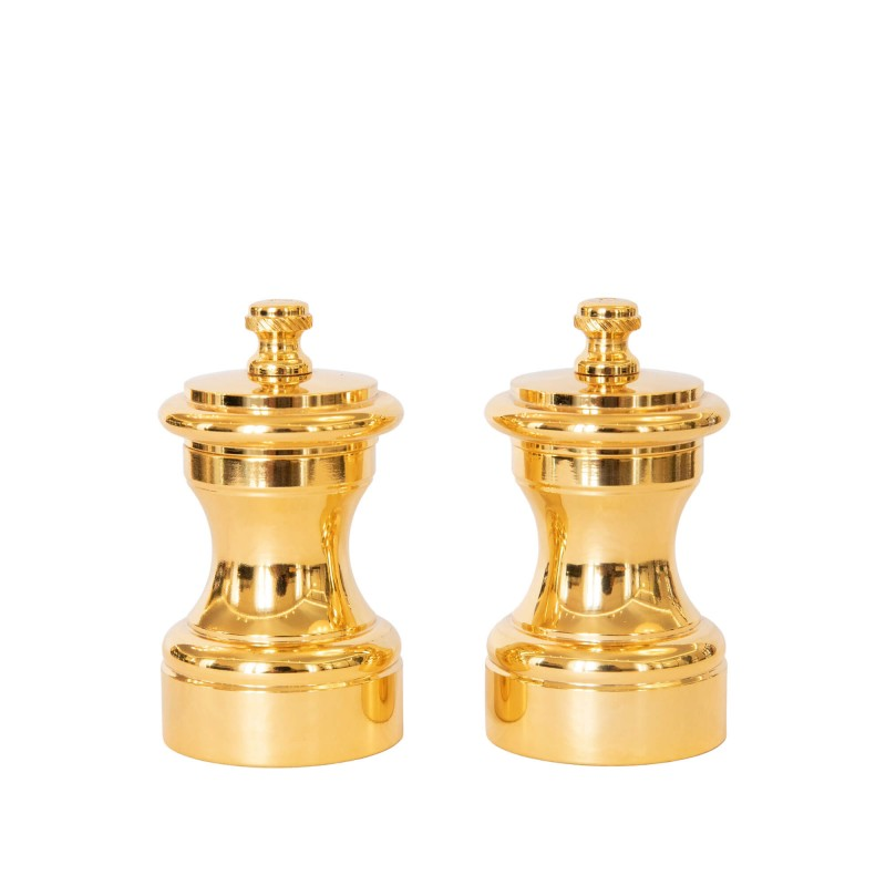 Set Salt and Pepper Mill Polishel Gold-Plated Brass