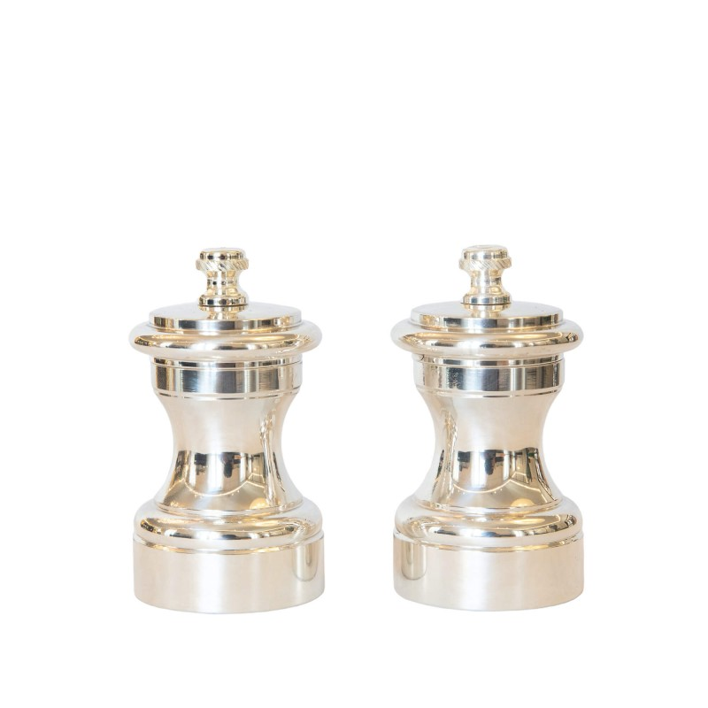 Set Salt and Pepper Mill Silver-Plated Brass