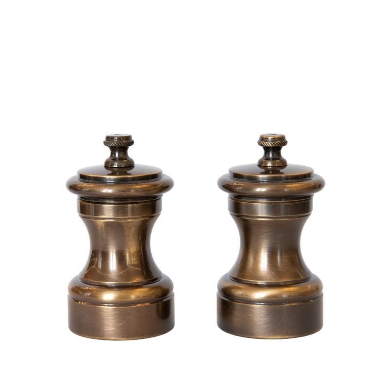 Set Salt and Pepper Mill Bronze Brass