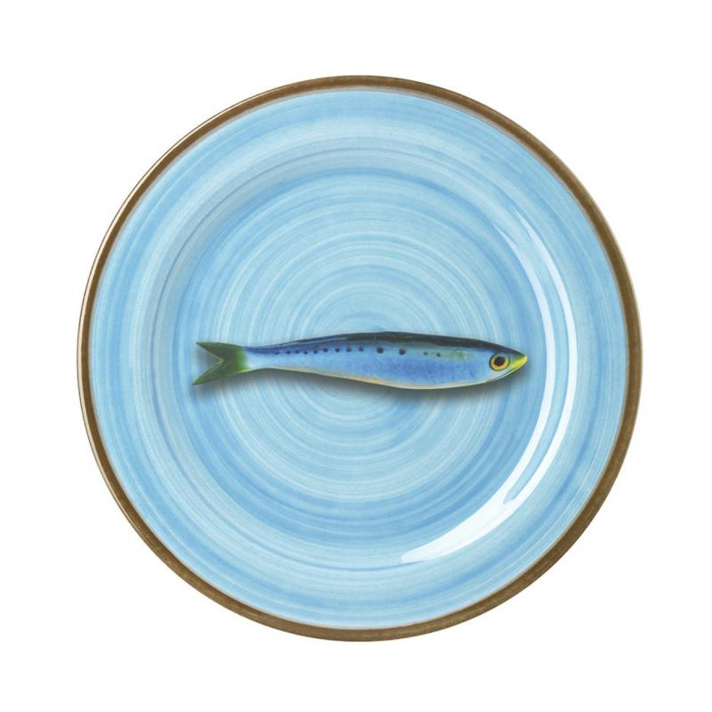 Aimone Dessert Plate Turquoise Sabrina