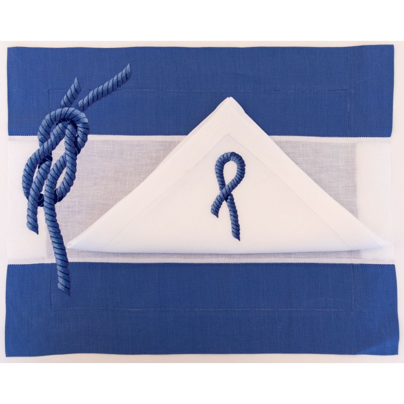 Placemat and Napkin Sporty Rope