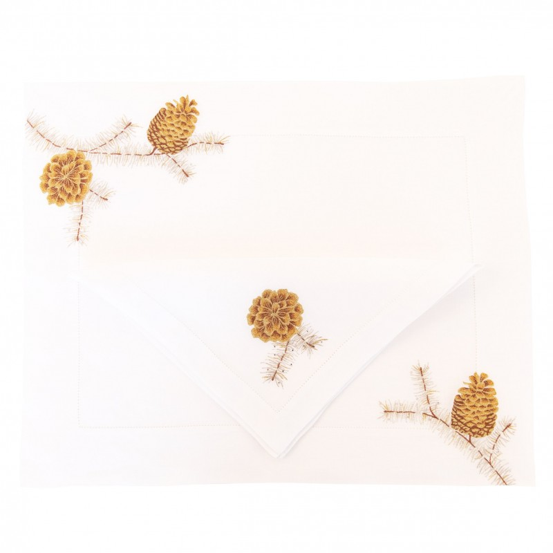 Placemat and Napkin Pinecone
