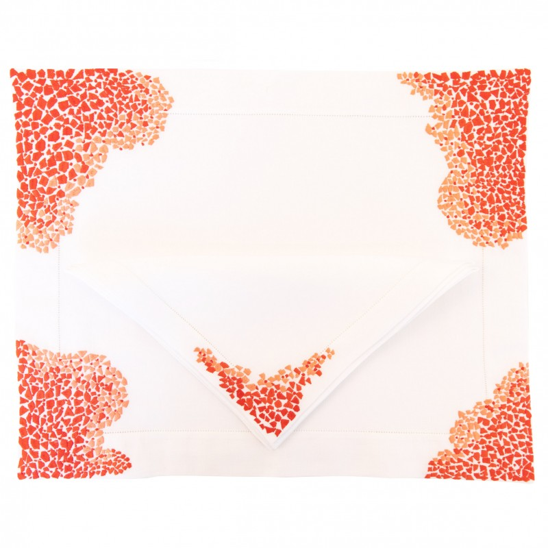 Placemat and Napkin Graphic Coral