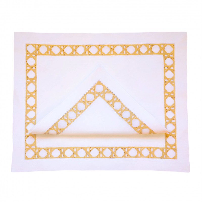Placemat and Napkin Canage Natural