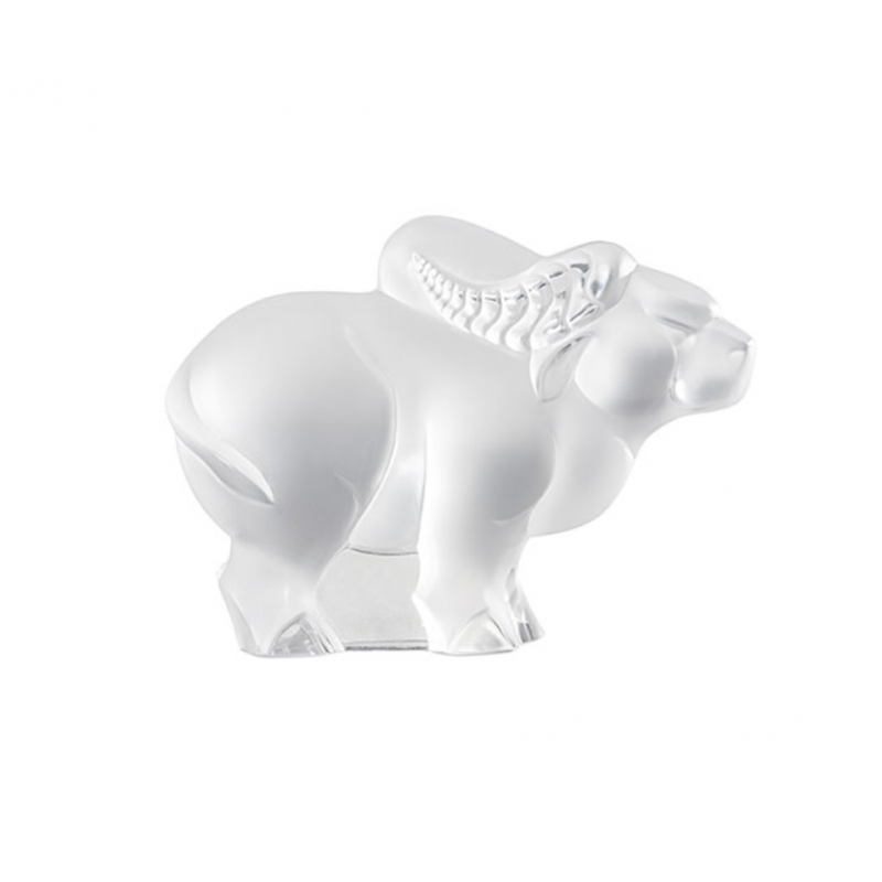 Buffalo Zodiaque Sculpture Clear Crystal Small Size