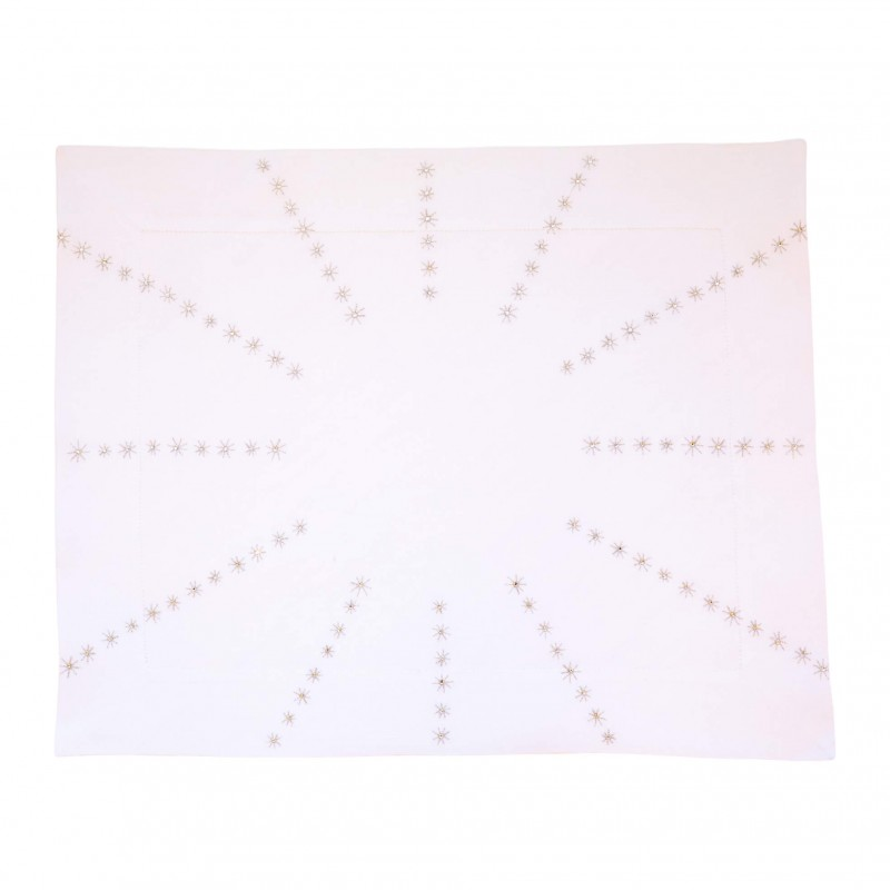 Placemat and Napkin Starburst Silver