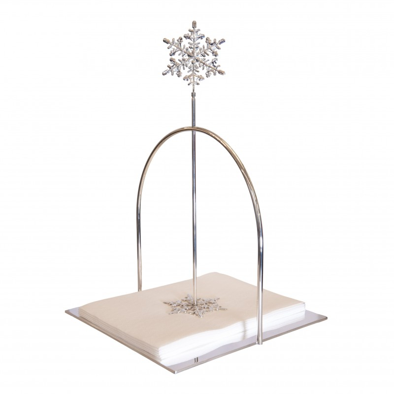 Napkin Holder Snowflakes Silver-Plated Small Size